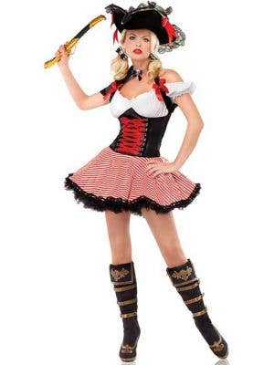 Sexy Pirate Wench Women's Fancy Dress Costume Main