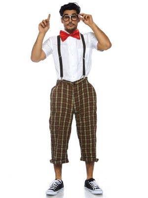 1950's Nerd Men's Schoolboy Fancy Dress Costume Main