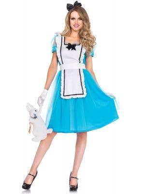 Women's Classic Alice In Wonderland Costume Main