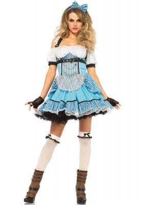 Women's Rebel Alice in Wonderland Steampunk Sexy Costume Main Image