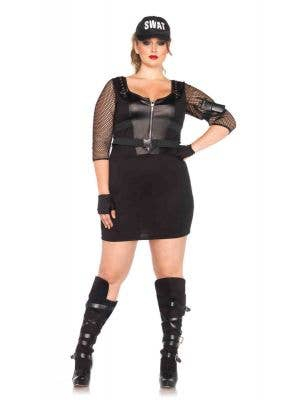 Plus Size SWAT Officer Sexy Women's Costume Main Image