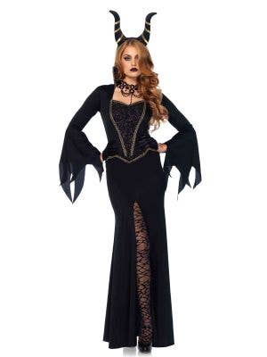 Deluxe Women's Maleficent Halloween Costume Main Image