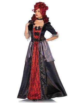 Women's Deluxe Vampire Queen Halloween Costume Main Image