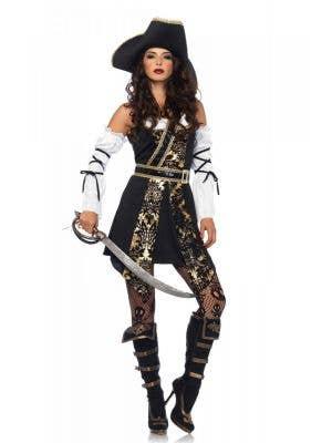 Sexy Black Sea Pirate Women's Costume Main Image