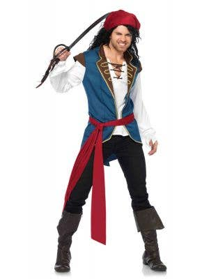 Men's Pirate Fancy Dress Costume Main Image
