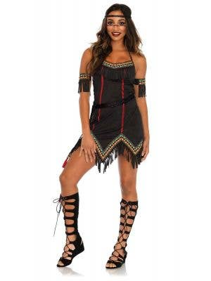 Women's American Indian Tiger Lily Costume Main Image