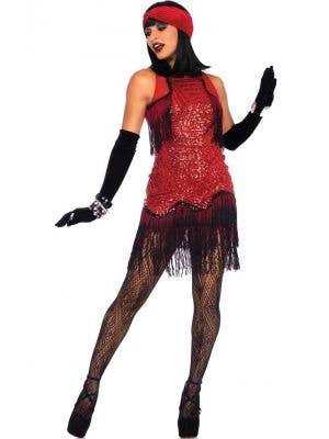 Gatsby Girl Women's Deluxe Red 1920's Flapper Costume