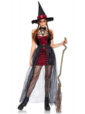 Sexy Women's Celestial Witch Halloween Costume Front View