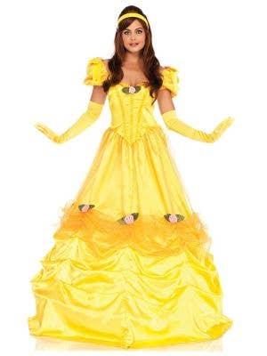 Women's Long Princess Belle Deluxe Costume Front Image