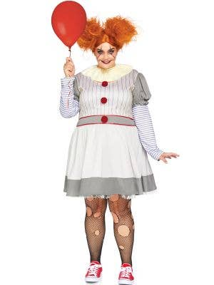 Pennywise Clown Plus Size Women's Halloween Costume