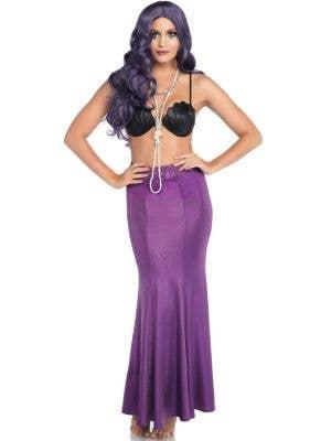 Shimmer Spandex Women's Purple Mermaid Skirt
