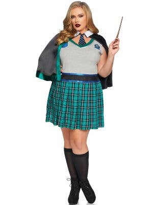 Sinister Spellcaster Women's  Sexy Plus Size Slytherin Costume