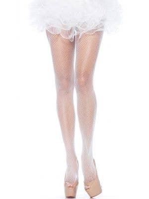Sexy Women's White Fishnet Full Length Stockings