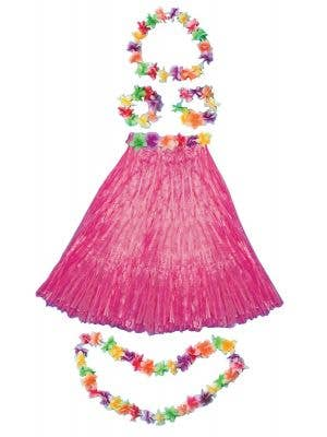 Aloha Hawaiian Women's Pink Costume Set