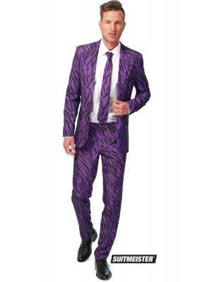 Suitmeister Purple Zebra Print Pimp Men's Novelty Costume Suit