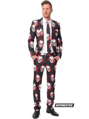 Men's Bloody Skull Suitmeister Novelty Halloween Suit Main Image