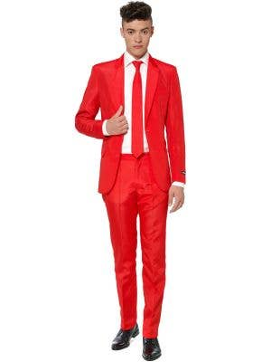 Men's Solid Red Suitmeister Novelty Suit Main Image
