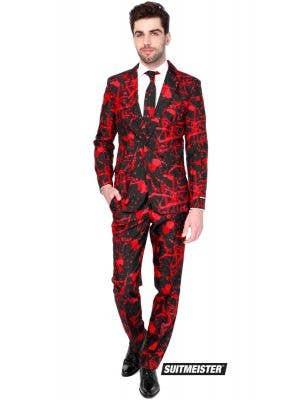 Men's Blood Splatter Halloween Suitmeister Opposuit Fancy Dress Main Image