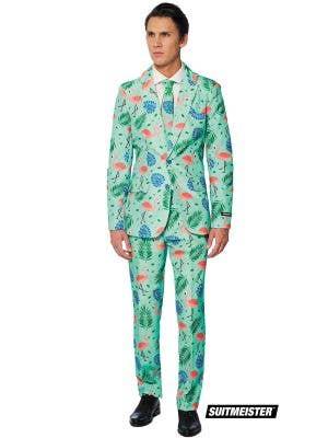 Men's Tropical Suitmeister Fancy Dress Flamingo Suit Main Image