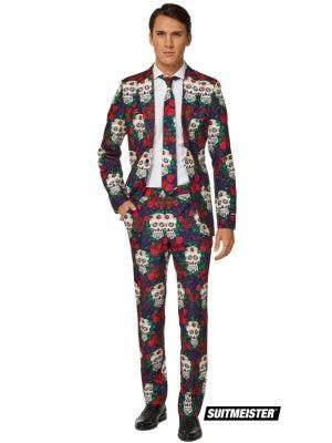 Men's Day of the Dead Opposuit Fancy Dress Suit Main Image