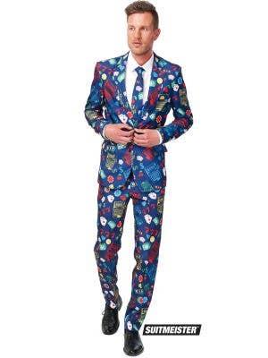 Men's High Roller Casino Print Novelty Suit Main Image
