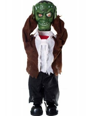 Green Animated Frankenstein Decoration with Lifting Head