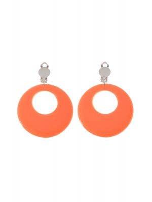 Clip On Women's Orange Costume Jewellery Earrings