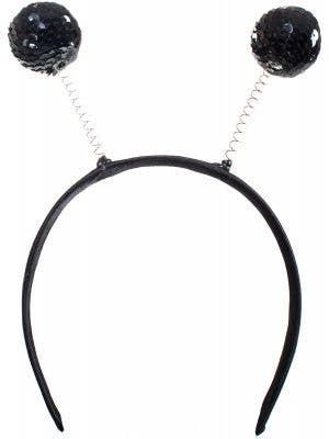 Black Sequinned Alien Costume Headband