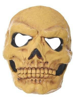 Yellowed Scary Skull Latex Halloween Mask