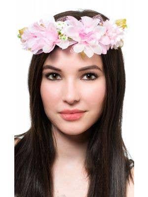 Pretty Pink Flower Crown Costume Headband