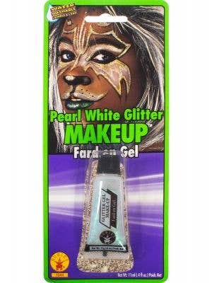 Pearl White Glitter Costume Makeup