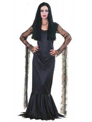 Licensed Morticia Addams Halloween Costumes for Women - Main Image