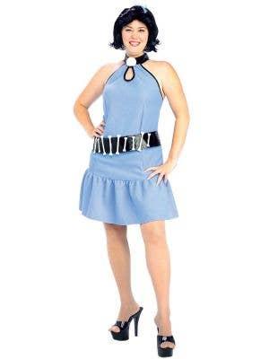 Plus Size Women's Betty Rubble Flintstones Costume Front View