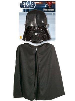Children's Darth Vader Mask And Cape Kit Image 1