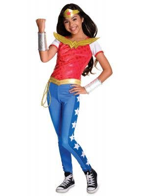 Girls DC Superhero Wonder Woman Costume Main Image