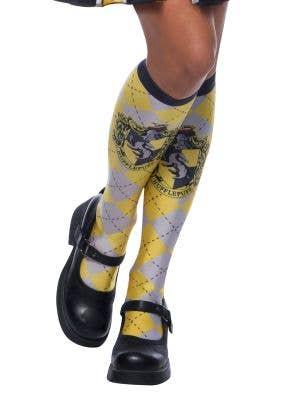 Yellow Hufflepuff Hogwarts House Licensed Harry Potter Costume Socks