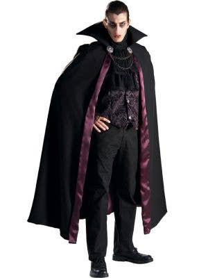 Premium Deluxe Men's Vampire Halloween Fancy Dress Costume