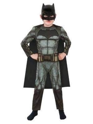 Boy's Deluxe Batman Fancy Dress Costume Main Image