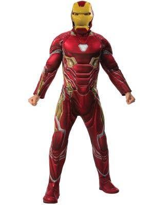 Iron Man Mens Marvel Avengers Muscle Chest Costume