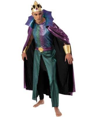 Iridescent Rainbow Shimmer King Neptune Sea God Costume for Men