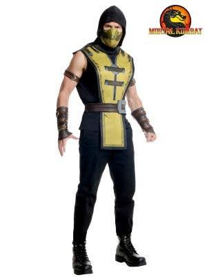 Men's Scorpion Mortal Kombat Character Dress Up Costume