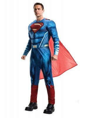 Superman Men's Dawn Of Justice Muscle Chest Costume Front View