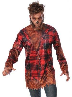 Men's Werewolf Halloween Fancy Dress Costume Shirt