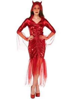 Women's Red Devil Bride Halloween Dress Up Costume