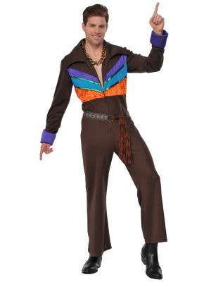Men's 1970's Hippie Guy Fancy Dress Costume - Main Image
