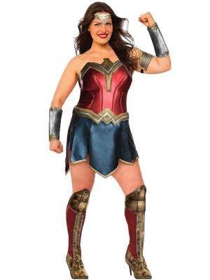 Justice League Deluxe Wonder Woman Plus Size Women's Costume