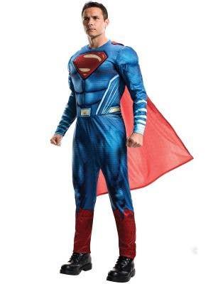 Superman Justice League Men's Muscle Chest Superhero Costume
