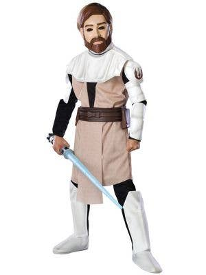 Boy's Star Wars Obi-Wan Kenobi Jedi Movie Costume Front View