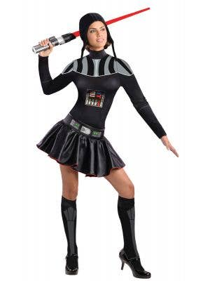 Women's Short Darth Vader Sexy Star Wars Costume Main Image