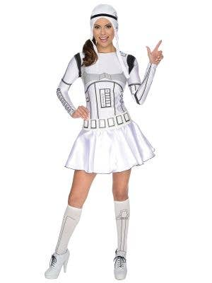 Women's White And Black Storm Trooper Dress Image 1